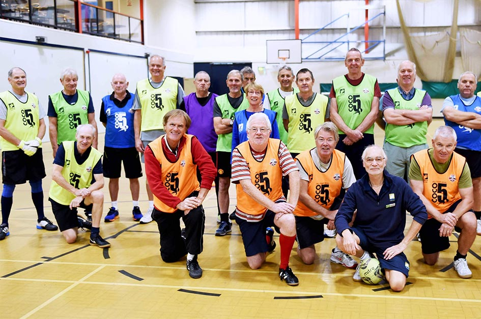 Waves walking football team