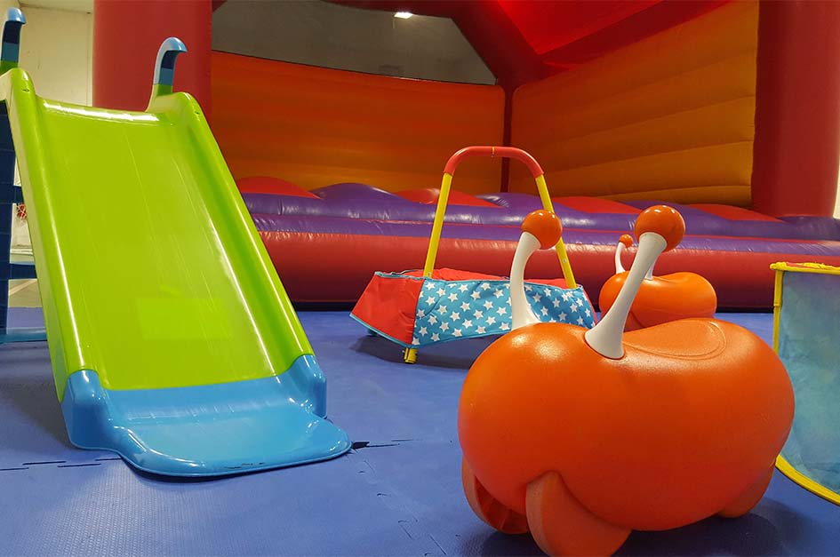 Bouncy castle and children's toys