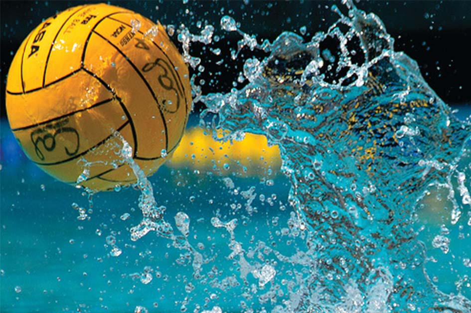 a water polo ball