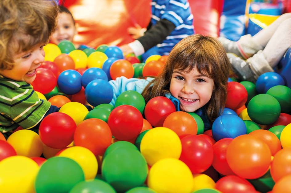 Children in soft play centre