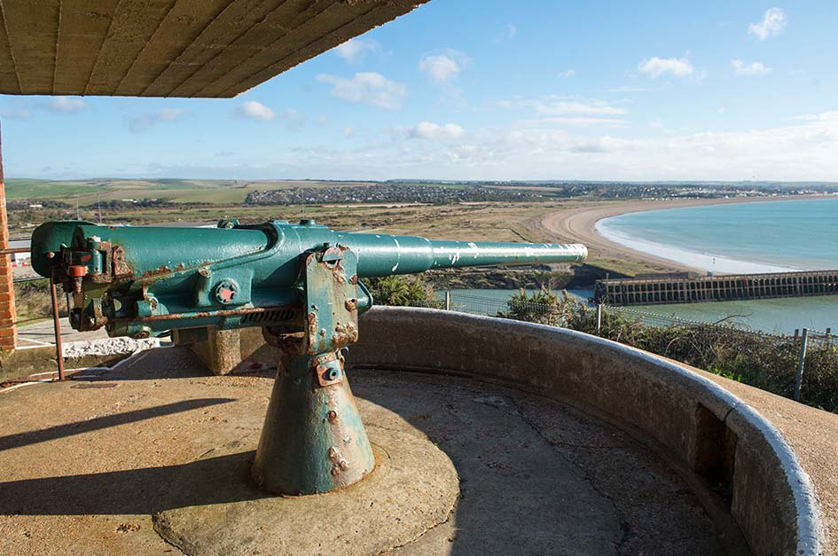 Clifftop gun at Newhaven Fort