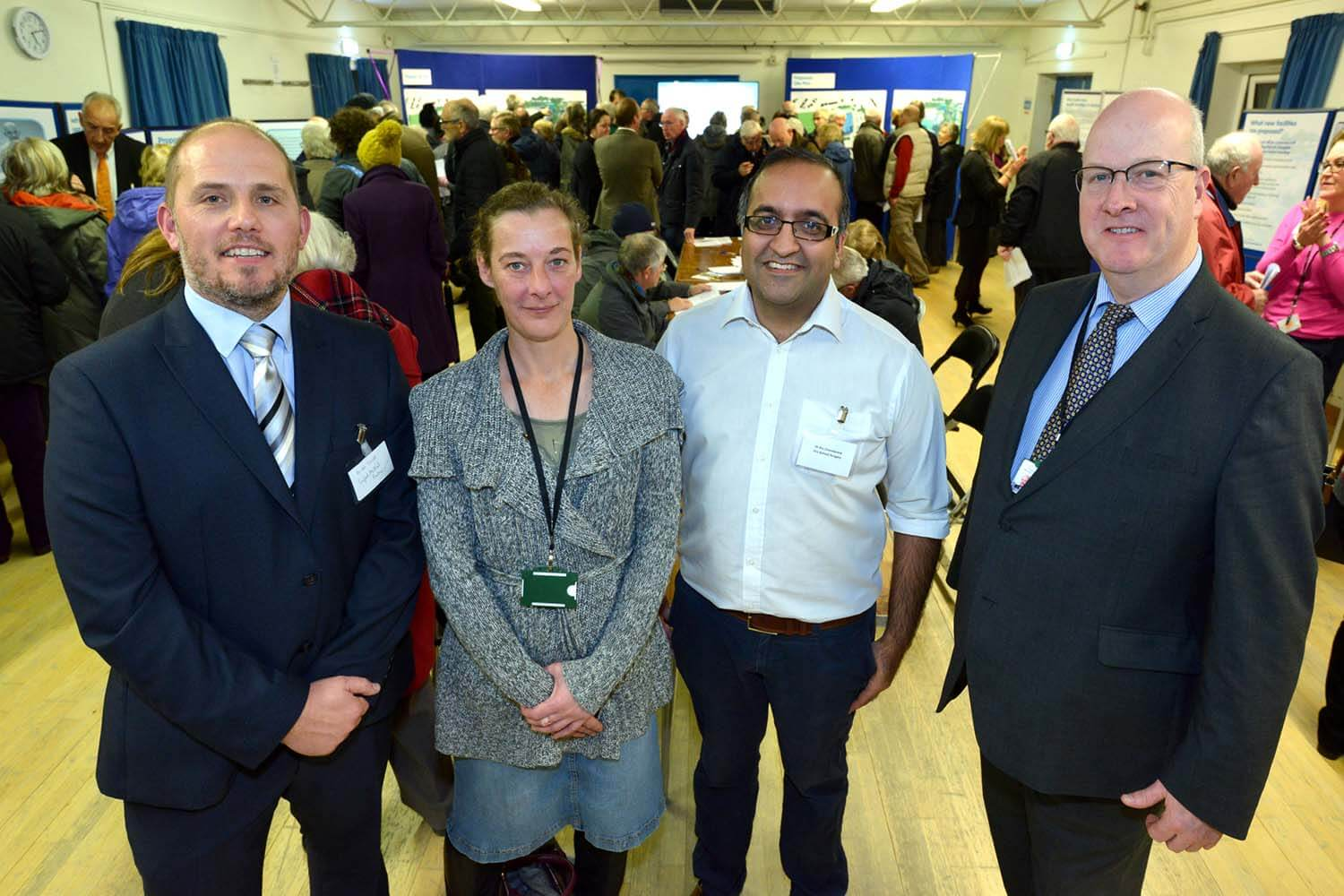 Left to right: Dr Dan Elliot, Seaford Medical Practice; Cllr Liz Boorman, Lewes District Council; Dr Raj Chandarana, Old School Surgery; Cllr Andy Smith, Leader, Lewes District Council