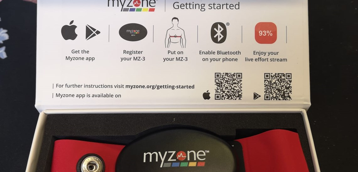 a myzone belt in the box